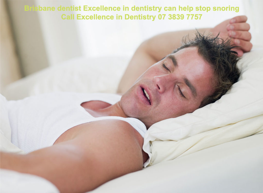 Male snoring in bed